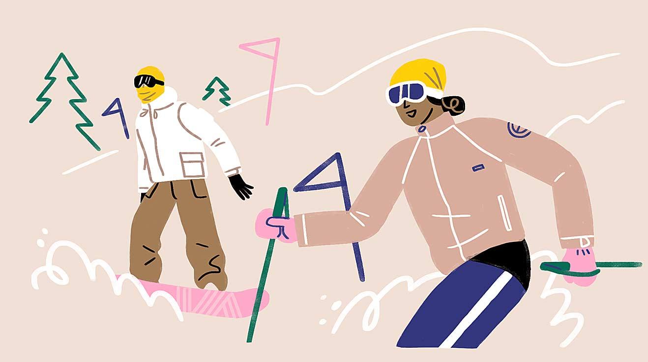 бафф лыжника